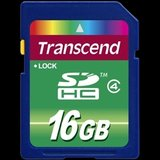 Secure digital card SDHC 16GB (Class 4) Transcend